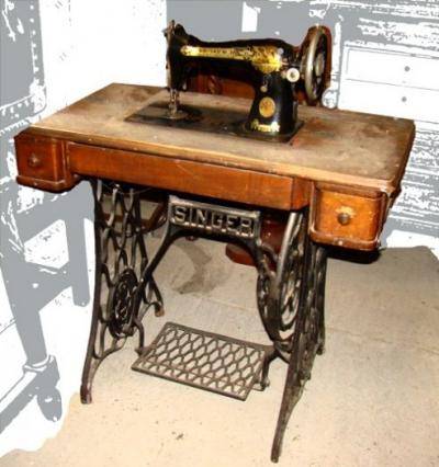 Antic58 m quina de coser singer - Maquinas de coser restauradas ...